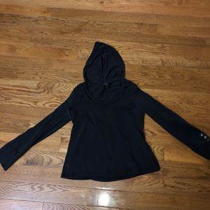 Size large hooded long sleeve shirt